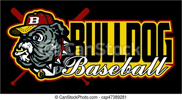 bulldog baseball - csp47389281