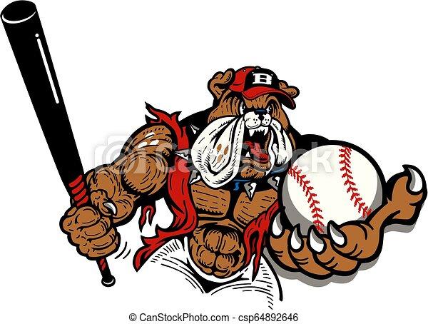 bulldog baseball - csp64892646