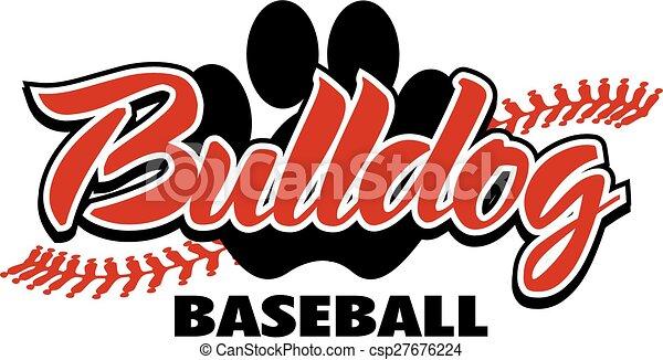 bulldog baseball  - csp27676224
