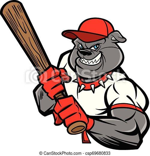 Bulldog Baseball Player - csp69680833