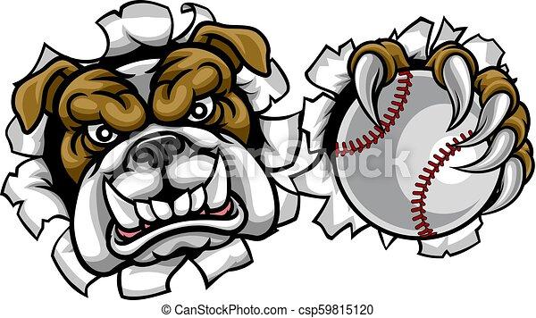 Bulldog Baseball Sports Mascot - csp59815120
