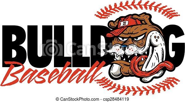 bulldog baseball - csp28484119