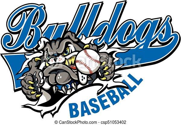 bulldog baseball - csp51053402