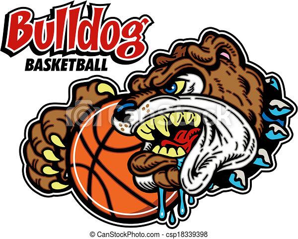 bulldog basketball design - csp18339398