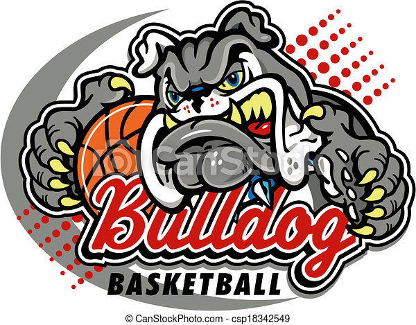 bulldog basketball design - csp18342549