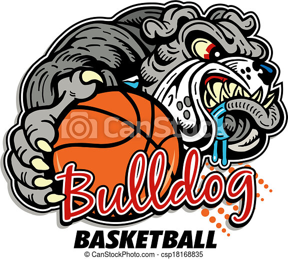 bulldog basketball design - csp18168835
