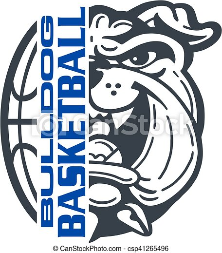bulldog basketball - csp41265496