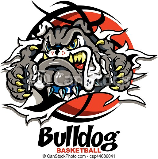 bulldog basketball - csp44686041