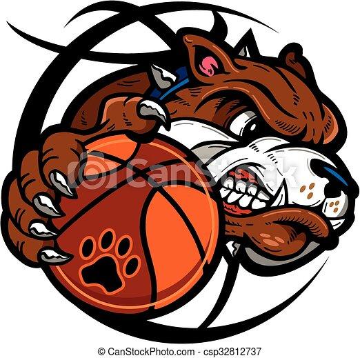 bulldog basketball - csp32812737