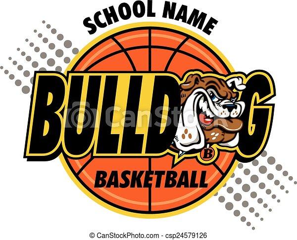 bulldog basketball - csp24579126