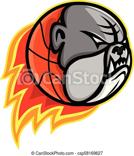 bulldog-basketball-MASCOT - csp58169627