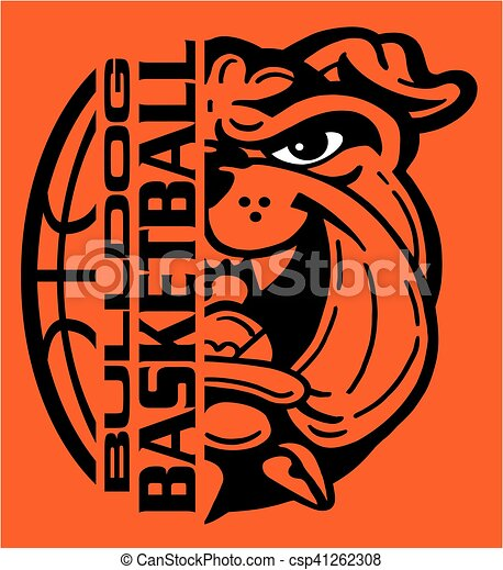 bulldog basketball - csp41262308