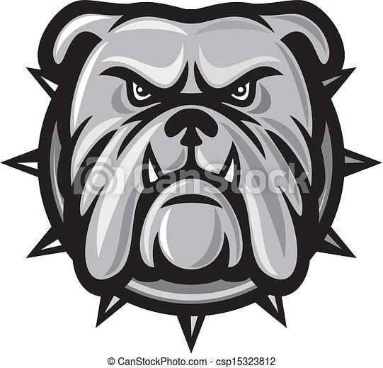 bulldog, cabeza - csp15323812