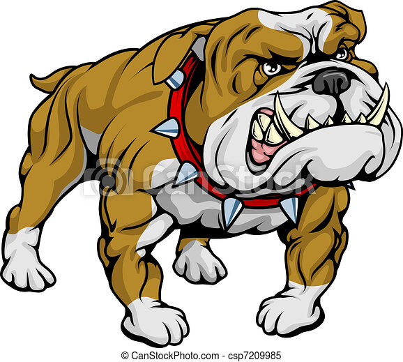 bulldog clipart illustration a cartoon very hard looking clipart rh canstockphoto com  old english bulldog clipart
