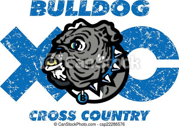 bulldog cross country design - csp22286576