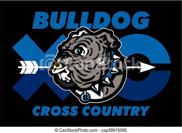 bulldog cross country - csp39915085
