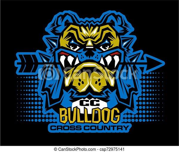 bulldog cross country - csp72975141