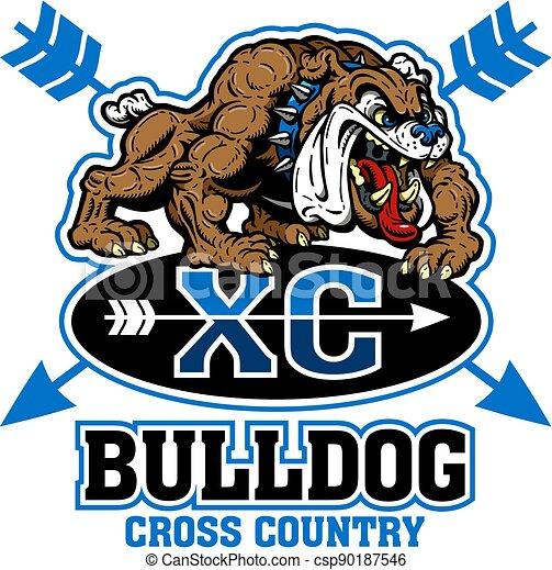 bulldog cross country - csp90187546