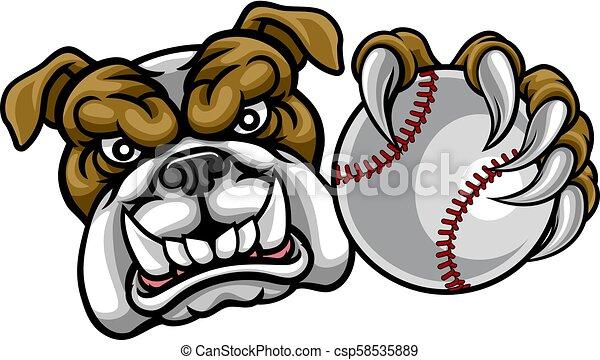 bulldog baseball Vector - stock illustration, royalty free illustrations,  stock clip art icon, stock clipart icons, logo, line… | Baseball vector,  Bulldog, Art icon