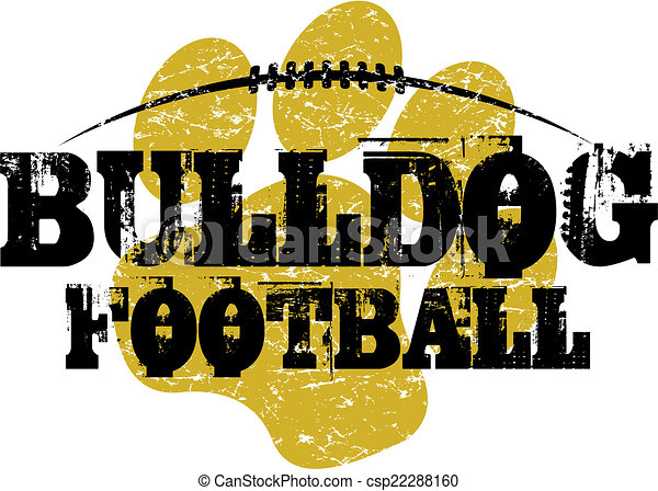 Diseño de fútbol Bulldog - csp22288160