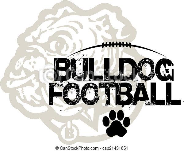 bulldog football - csp21431851