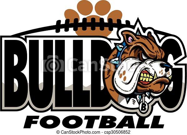bulldog football - csp30506852