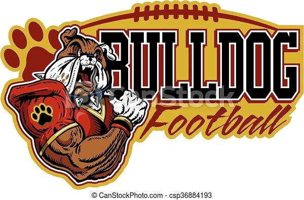 bulldog football  - csp36884193