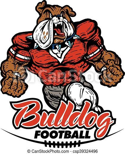 bulldog football - csp39324496