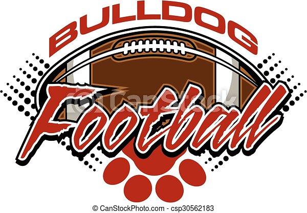 bulldog football - csp30562183