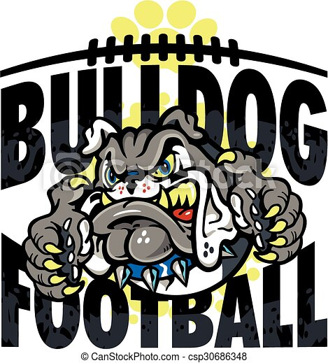 bulldog football - csp30686348