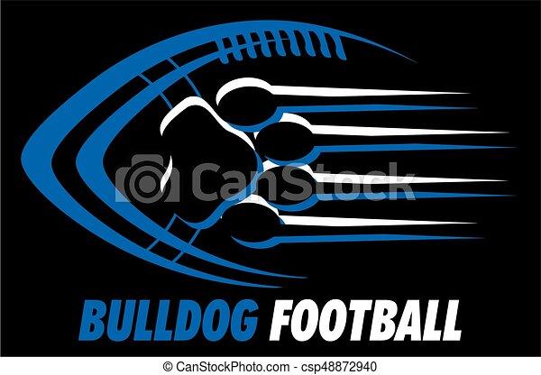bulldog football - csp48872940