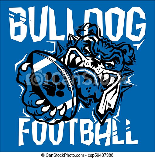 bulldog football - csp59437388