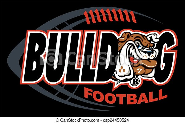 bulldog football - csp24450524