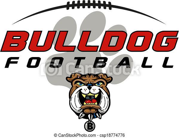 bulldog football - csp18774776