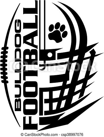 bulldog football - csp38997076