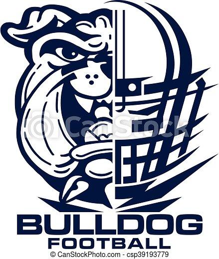 bulldog football - csp39193779