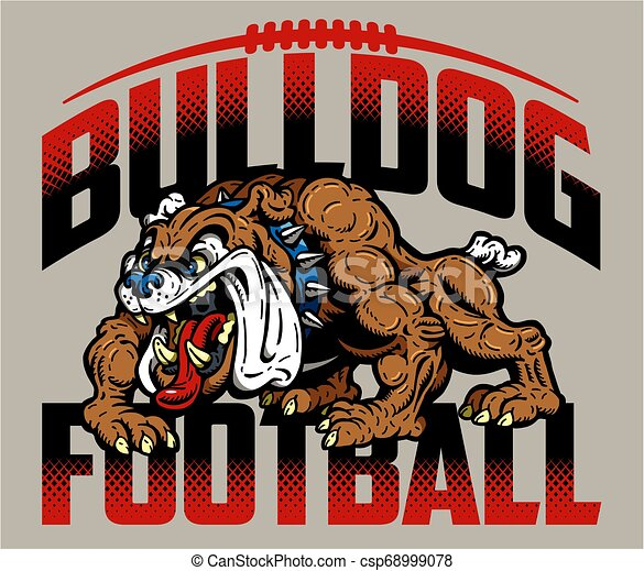 bulldog, football - csp68999078