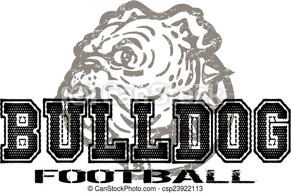 bulldog football - csp23922113