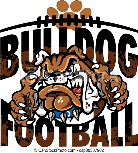 bulldog football - csp30507902
