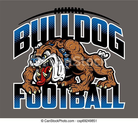 bulldog, football - csp69249851