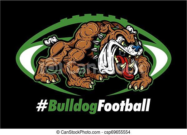 bulldog, football - csp69655554