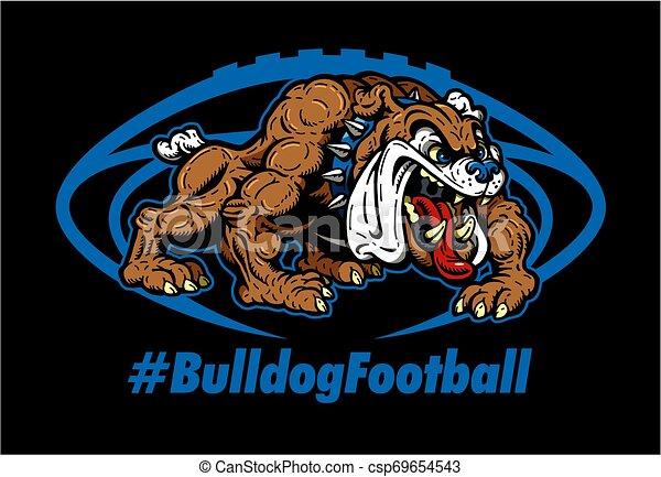 bulldog, football - csp69654543