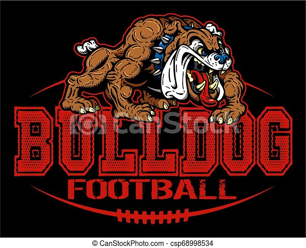 bulldog, football - csp68998534