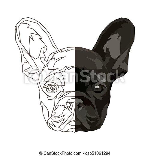 bulldog francês engraçado jogo illustration doméstico três