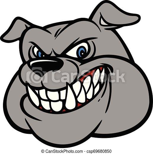 Bulldog Head - csp69680850