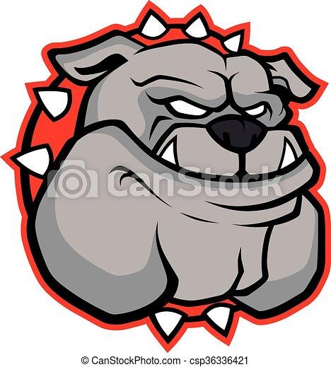 Bulldog head mascot - csp36336421
