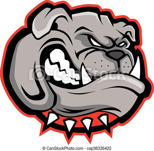 Bulldog head mascot - csp36336422