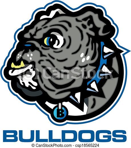La mascota del bulldog inglés - csp18565224