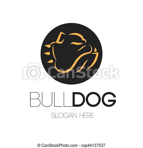 Bulldog Logo Design - csp44137537