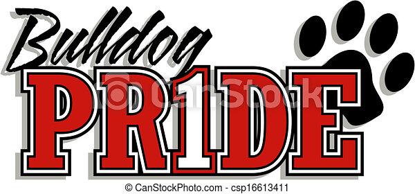 bulldog, logotipo, orgoglio - csp16613411